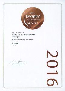 Decanter Bronze - Champagne Jean Arnoult Fleur de raisin - 2016